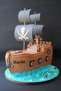 Pirate Ship Cake — Children's Birthday Cakes