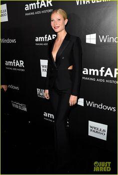 Gwyneth Paltrow Wears a Suit with Slits at amfAR Gala | gwyneth paltrow wears a suit with slits at amfar gala 01 - Photo