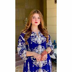 Crazy Girl Quotes, Crazy Girls, Cute Girls, Pakistani Dress Design, Pakistani Dresses, Stylish Dresses For Girls, Girls Dresses, Blue Colour Dress, Color
