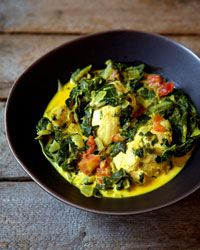 Indian-Spiced Chicken and Spinach  - Fast Chicken from Food & Wine