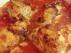 Braised Chicken Thighs with Tomatoes and Garlic Recipe on Yummly