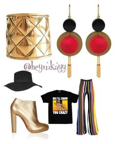 70's Inspired. by missmkayy on Polyvore featuring polyvore, fashion, style, Balmain, Christian Louboutin, Chanel, Marni and Topshop