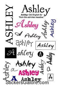 It Takes Two Ashley Name Stickers Galore