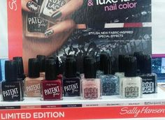 Spotted: NEW Sally Hansen Limited Edition Patent Gloss & Luxe Lace Collection