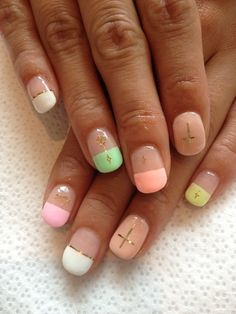 pastel neon nail - potential 21st nails