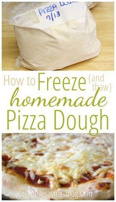to Freeze {and Thaw} Homemade Pizza Dough Freezer cooking is SO easy with this tutorial on how to freeze pizza dough. Make a couple batches on the weekend, freeze, and enjoy on a busy weeknight! Make Ahead Freezer Meals, Freezer Cooking, Freezer Recipes, Budget Freezer Meals, Pizza Recipes, Cooking Recipes, Cooking Tips, Cooking Lamb, Cooking Quotes