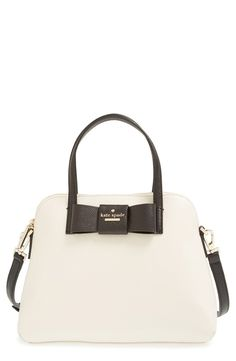 Love the darling bow on this classic black and white Kate Spade satchel.