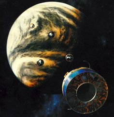 Constellation of Space Probes visiting Venus (Concept)