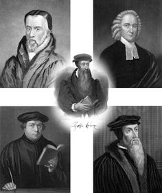 the reformers- johnathon edwards | Five great reformers: John Calvin, Jonathan Edwards, Martin Luther ...
