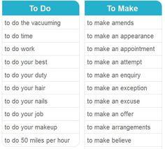 To do & To make