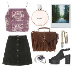 """""""moroccan"""" by megan-garner ❤ liked on Polyvore featuring Topshop, Lacey Ryan, Polaroid and Chanel"""