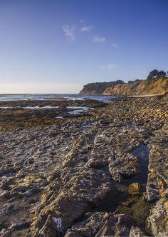 Rock fissure tide pools at Pillar Point Bluff in Half Moon Bay California. [OC][3989x5626]