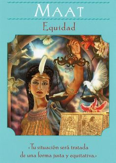 Maat in Goddess Guidance Oracle Cards by Doreen Virtue Doreen Virtue, Egyptian Mythology, Egyptian Goddess, Maat Goddess, Goddess Art, Oracle Tarot, Angel Cards, Gods And Goddesses, Ancient Egypt