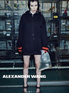 Alice Glass for Alexander Wang SS16 campaign
