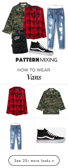 """patternmixing"" by jennene on Polyvore featuring NLST, Vans, Rails and patternmixing"