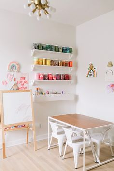 kids playroom for arts and crafts