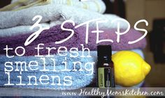 3 simple steps to get rid of mildew smell in towels #cleaning #diy http://healthymomskitchen.com