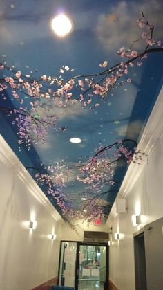"""Easy """"Old World"""" Ceiling Murals With Exciting New Stencils - Uncinetto Sky Ceiling, Ceiling Murals, Wall Murals, Hallway Ceiling, Ceiling Painting, Wall Painting Decor, Bedroom Murals, Diy Bedroom Decor, Home Room Design"""