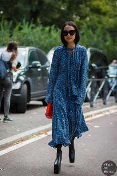 Yoyo Cao Milan SS17 by STYLEDUMONDE Street Style Fashion Photography