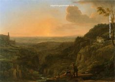 Claude Lorrain A view of the Roman Campagna from Tivoli painting in my site, painting Authorized official website
