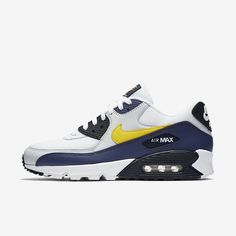 size 40 a6359 3d92d Nike Air Max 90 Essential Heren Wit Blue Recall Pure Platinum Tour Yellow