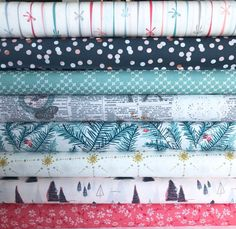 Merry & Bright COLLECTIVE Collection, AGF Bundle of 8 prints, Christmas Off White Fabric, Quilting Weight textile, Art Gallery Designer Fabric Yarn, Art Gallery Fabrics, Modern Prints, Merry And Bright, White Fabrics, Fabric Design, Swatch, Textiles, Quilts