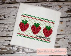 Strawberry Shirt with Personalization  by KnuckleheadNeedlewrk, $20.00