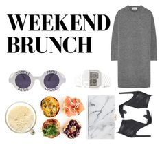"""""""#weekend brunch outfit"""" by m-co on Polyvore featuring Chanel, Jeffrey Campbell, Charlotte Olympia, Nixon and Acne Studios"""