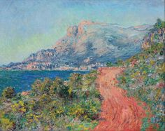 """The Red Road near Menton"" by Claude Monet, 1884 ・ Style: Impressionism ・ Genre: landscape"
