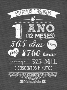 bodas de papel Ideas Aniversario, Chalk Lettering, Creative Gift Wrapping, 1st Anniversary, Chalkboard, Diy And Crafts, Marriage, Valentines, Scrapbook