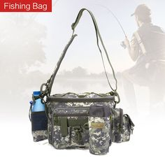 Multifunctional Fishing Bag Waist Lure Pack Fishing Bag Lures Pouch Pole Package Outdoor Fish Tackle Bag Utility Convenient Tool provide great functions that Fishing Tackle Bags, Fishing Tools, Fish In A Bag, Utility Pouch, Multifunctional, Backpack Bags, Packaging, Backpacks, Shoulder Bag