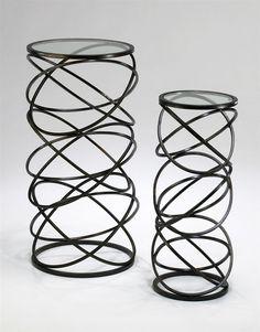 303 best furniture images modern furniture pedestal tables Modern Bedroom Furniture Design spiral tables design by cyan design