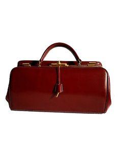 70s LANCEL DOCTOR BAG  burgundy leather by lesclodettes on Etsy