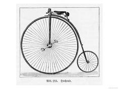 The Penny Farthing Bicycle Impressão giclée