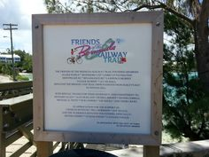 Sign at the footbridge in Bailey's Bay #Bermuda on the #RailwayTrail