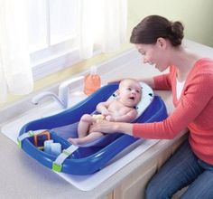 The Sure Comfort Deluxe Newborn to Toddler Tub with Sling is a mommy favorite! In fact, it was voted BEST bathtub in Baby Centers Moms Picks 2014 awards. Once baby grows, they can sit up comfortably and have room to play on the toddler side. Baby Bath Seat, Baby Tub, Bath Seats, Couches, Toddler Bath Tub, Toddler Toys, Kids Toys, Cheap Baby Shower Gifts, Amazon Baby