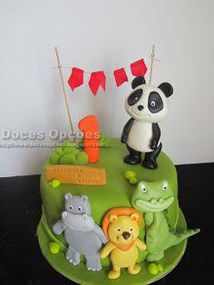Doces Opções: Bolo de aniversário com o Panda e os amigos