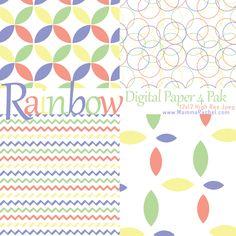 Free Rainbow Digital Paper