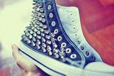 DIY studded shoes....I can make that. I think I will!