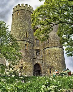 12th century Saltwood Castle, Kent, England. During WWII Nazi Hermann Goring ordered the Luftwaffe not to bomb Hythe, as he had designated Saltwood as his post-invasion home!