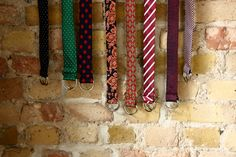 Our current vintage collection of belts made from ties #belts #accessories #presents #men #ties #cool - Check them out: www.twentybells.com