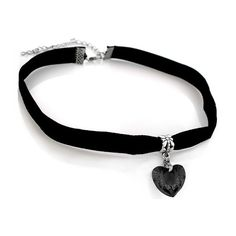 Heart Choker with Velvet Band (18 AED) ❤ liked on Polyvore featuring jewelry, necklaces, heart choker necklace, heart shaped jewelry, sparkle jewelry, unisex jewelry and heart jewelry