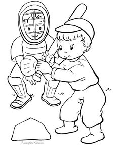 baseball coloring sheet to print - Free Coloring Pages Baseball 2