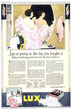 Vintage Ads: Lux Laundry Soap, 1919