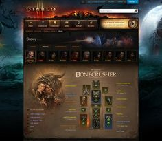 In between releasing new updates and patches for Diablo 3, Blizzard has confirmed that it was going to update the game's website and allow players who are logged in to have much richer profiles with all sorts of information about their characters.