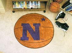Naval Academy Navy Midshipmen Basketball Shaped Area Rug Welcome/Bath Mat