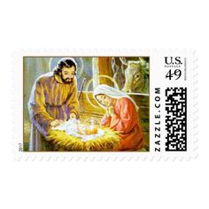 Vintage Holy Family Christmas Postage