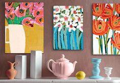 Artist Lane Presents Anna Blatman Abstract Canvas Art, Diy Canvas Art, Acrylic Art, Illustration Blume, Motif Floral, Abstract Flowers, Diy Art, Flower Art, Art Projects