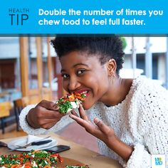 #TipTuesday Chew more, eat less! Chewing more can lower your total meal intake by nearly 15% without sacrificing satiety, reveals new research. Doubling the number of times you chew food gives your brain time to register fullness.  #tuesdaytip   #eathealthy   #calories   #brain   #lifehack   #brainhack