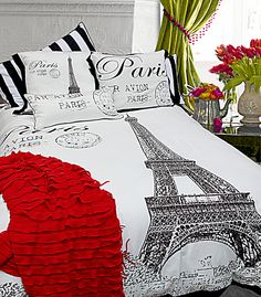 Eiffel tower motif adds a sophisticated note with an extra dose of gusto if you are hankering something with a French flair. Replace banality with style and sizzle that is distinctly Parisian! Shown with Cascade in red (new) and Ahoy.100% cotton. Print.